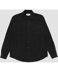 YMC Large Seersucker Doc Savage Shirt Black