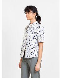 Apiece Apart Sonia Pff Button Up Top Creamy Pansy Floral - Multicolour