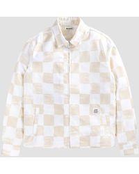 Reception Club Jacket White & Beige Check