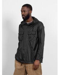 Engineered Garments - Nylon Taffeta Cagoule Shirt Black - Lyst