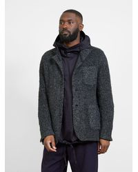 Engineered Garments Curly Knit Jacket Charcoal Gray