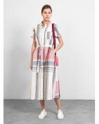Engineered Garments - Bd Shirt Dress Multi Plaid - Lyst