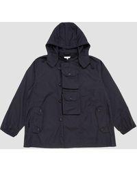 Engineered Garments Mt Jacket Pc Poplin Navy - Blue