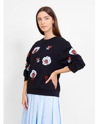 Henrik Vibskov - Organic Cotton Sweatshirt Midnight Bloom - Lyst
