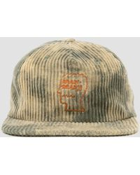 Brain Dead Bleached Cord Logo Head Hat Green