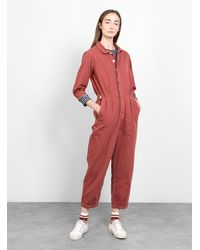 SIDELINE Willow Jumpsuit Brick Red