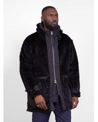 Kodiac Fur Coat Black