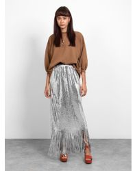 Rachel Comey - Treadlight Sequin Fringe Skirt - Lyst