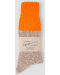 Anonymous Ism - Wool Cable Crew Socks - Lyst