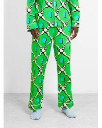 Brain Dead Bubble Pajama Pants Green