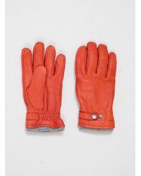 Hestra Utsjo Gloves Brick Red - Grey