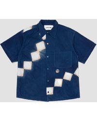 STORY mfg. Shore Shirt Indigo Pink Lunar Clamp - Blue