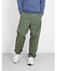 Norse Projects Evald Canvas Work Trousers Moss Green