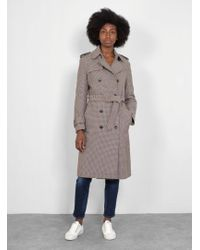 Closed - Clubmoss Houndstooth Coat - Lyst