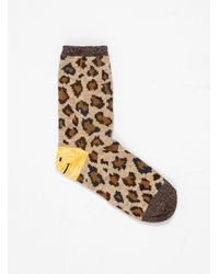 Kapital 84 Yarns Smilie Leopard Socks - Brown