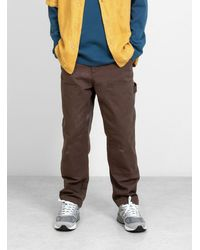 Stussy Spotted Bleach Work Pant Brown
