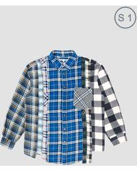 Needles - Rebuild 7 Cuts Flannel Shirt Multi - Lyst