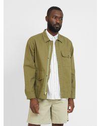 Garbstore Cotton Linen Field Jacket Green