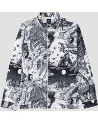 Brain Dead Wild Things Pajama Top Black & White