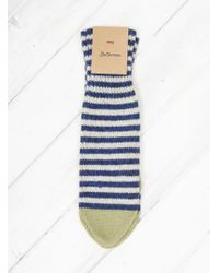 Bellerose Gyocho Knitted Mittens - Blue