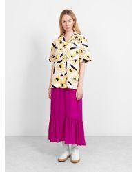 Rejina Pyo Marty Shirt Flower Print - Purple