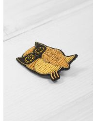 Macon & Lesquoy - Owl Brooch - Lyst
