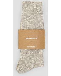 Norse Projects - Ebbe Melange Rib Socks - Lyst