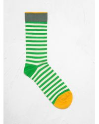 Bonne Maison - Stripe Sock In Green - Lyst