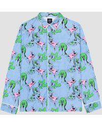Brain Dead Yard Dawg Pajama Top Blue
