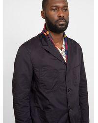 Engineered Garments Nb Jacket High Count Twill Black - Blue