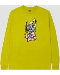 Brain Dead Bubblegum Shorty Long Sleeve T-shirt - Yellow