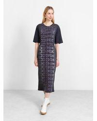 Raquel Allegra Belted Tee Dress Night Orchard Tie-dye - Blue