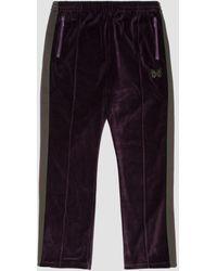 Needles Narrow Track Pant Velour - Purple