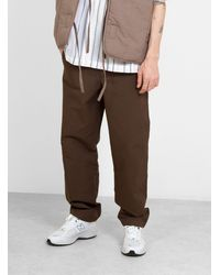 Norse Projects Evald Canvas Work Trousers Heathland Brown