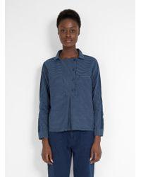 SIDELINE - Edie Shirt Indigo Stripe - Lyst