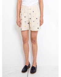 SIDELINE - Embroidered Lila Shorts - Lyst