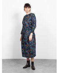 Anntian Binder Dress Navy - Blue