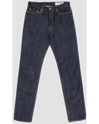 Kapital 14oz Denim 5 Pocket Stone Jeans - Blue