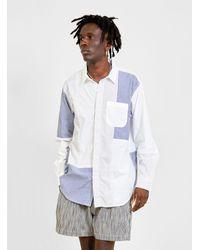 Engineered Garments Patchwork Short Collar Shirt White