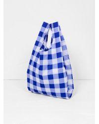 BAGGU Baby Bag Blue Big Check