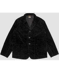 Kapital 7w Corduroy Hospital Jacket - Black