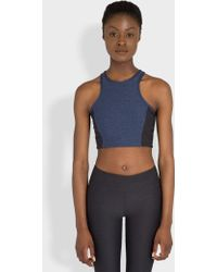 Outdoor Voices - Two-tone Athena Crop Charcoal And Navy - Lyst