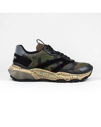 creps-locker Valentino Bounce Military Green Camouflage Sneaker - Multicolor