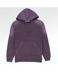 creps-locker Givenchy Paris Stitch Detailed Purple Blurred Hoodie