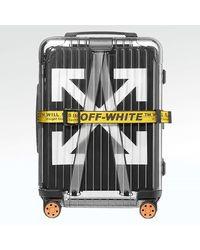 creps-locker Off White X Rimowa Transparent Black Suitcase 36l - Multicolor