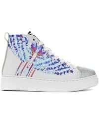 BRIAN MILLS Sneakers With Print - Color: White,t