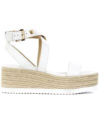 Michael Kors Sandals With Rope Wedge - White