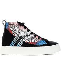 BRIAN MILLS Mid Top Sneakers With Printing - Siz - Black
