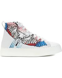 BRIAN MILLS Mid Top Sneakers With Printing - Siz - White