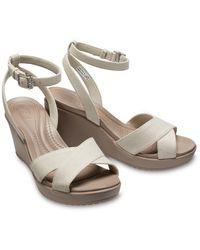 Crocs™ Leigh II Cross-Strap Ankle Wedges - Mehrfarbig